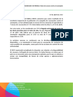 Comunicado MSP Sarampión