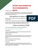 Guia 15 Determinacion Tasa Minima de Aceptacion de Rendimiento Propia y Mixta