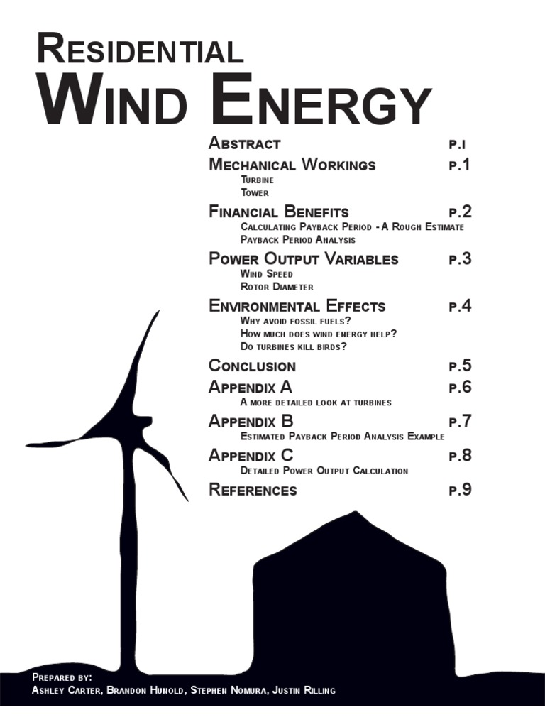 Beginners Guide Residential Wind Energy Power Turbine Towers Great Rock Windpower