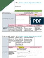 Formato Para Planeacion Por Secuencia Didactica en Blanco