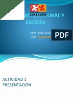 Comunicacion Oral y Escrita Profe Mateluna