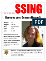 Missing Person Flyer