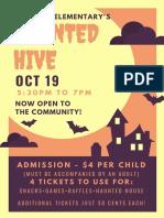 haunted hive flyer
