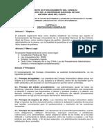 Reglamento de Funcionamiento de Consejo Universitario Modificado 2019