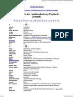 Wörterbuch Zur Holzbearbeitung (Englisch-Deutsch)