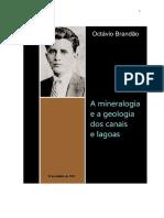 Octávio Brandão. A mineralogia e a geologia dos canais e lagoas.