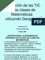 Integración de Las TIC en Las Clases de Matemáticas Utilizando Geogebra