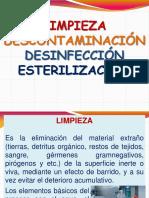 Limpieza - Descontaminacion - Desinfeccion y Esterilizacion