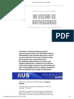Mi Vecino Es Antivacunas - Revista Anfibia