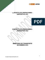 concepto de operaciones con dispositivos AVL
