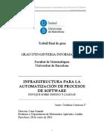 INFRAESTRUCTURA PARA LA AUTOMATIZACIÓN DE PROCESOS DE SOFTWARE