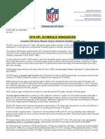 2019-2020 NFL Schedule