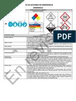 HDS Amoniaco NOM 018 2015 MARY DGTF MEAG Guia de Acciones