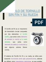 F-Cálculo de Tornillo Sin Fin y Su Rueda