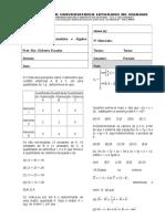 My arquivo Revisão de Geometria Analítica e Álgebra Linear Grau I - 2019 I.doc