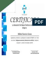 Certificado Taller