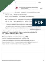 ACECLOFENACO VEGAL Comp. Recub. Con Película 100 Mg - Datos Generales