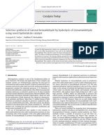 2.212 Selective Synthesis of Natural Benzaldehyde by Hydrolysis of Cinnamaldehyde
