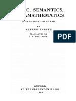 Alfred Tarski - Logic, Semantics, Metamathematics. Papers from 1923 to 1938 (1956, Clarendon Press).pdf