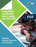 Manifiesto En educación básica y media para 2018-2022