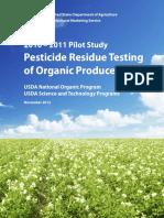 USDA Pesticide Residue Testing of Organic Produce (2012)