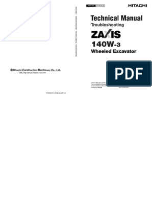 Hitachi wheel type excavator troubleshooting manual pdf | Personal