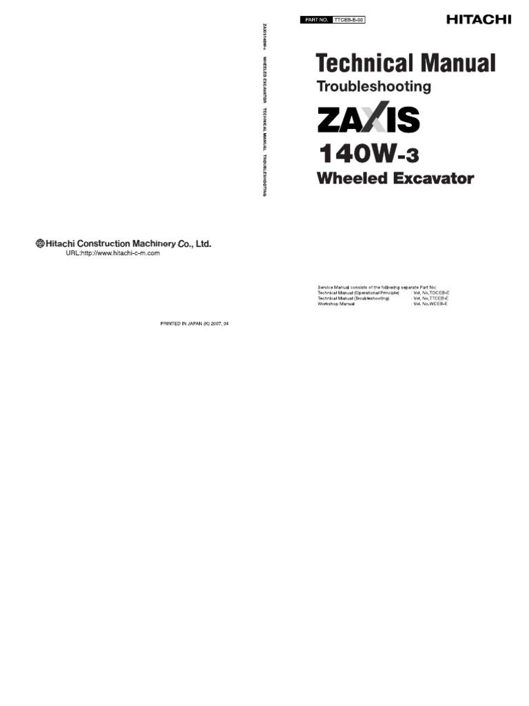 Hitachi wheel type excavator troubleshooting manual pdf | Personal