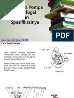 Materi 2 Dan 3 Cara Kerja Pompa Sentrifugal Spesifikasi Dan Perhitungan Performa Pompa