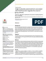 Single Nucleotide Polymorphism