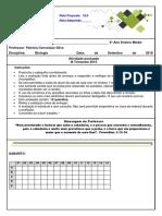 MINITESTE ARTHROPODA  SPLICING 3º ANO.docx