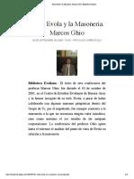 Julius Evola y la Masoneria. Marcos Ghio | Biblioteca Evoliana