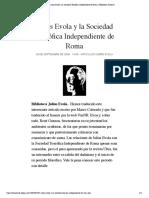Julius Evola y la Sociedad Teosófica Independiente de Roma | Biblioteca Evoliana