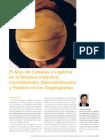 Recurso Complementar. El Area de Compras y Logistica en La Empres Industrial. Centralizacion Descentralizacion y Posicion en Los Organigramas
