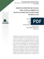 DESENVOLVIMENTO DE UM JOGO EDUCACIONAL SOBRE LEAN MANUFACTURING EM UM SOFTWARE DE SIMULAÇÃO