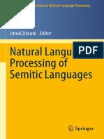 Natural Language Processing of Semitic Languages