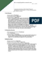 oral presentation review