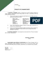 Affidavit of Change Body (2)