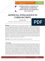 Artificial Intelligence in Cyber Securit