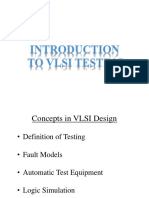 Testing of VLSI Circuits