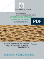 Fashion Forecasting in 2020 in clothtech and sportech