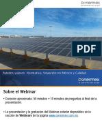 Webinar Calidad Paneles Solares