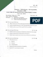 Se 149 - Electrical Maintenance and Energy Audit (2) - Sem Viii - Dec 2018