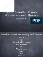Learn Essential French Vocabulary and Phrases (1)