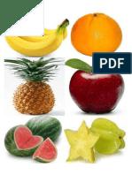 Flashcard Fruit