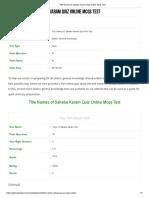 Title Names of Sahaba Karam Quiz Online Mcqs Test