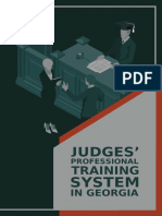 Judges' Professional Training System in Georgia
