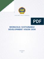 Mongolia Sustainable Development Vision 2030