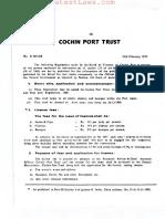 Cochin Port Trust (Licencing of Jetties, Slipways and Boat Pen) Regulations, 1968