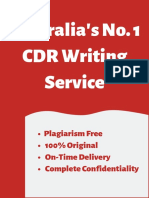 Australia's No. 1 CDR Writing Service