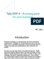 Tally ERP 9 - Turning Point for Your Business